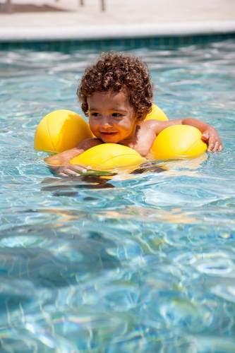 Boia Almofada de Piscina Para Bebê Amarela Baby Pil - Octopus Amarela