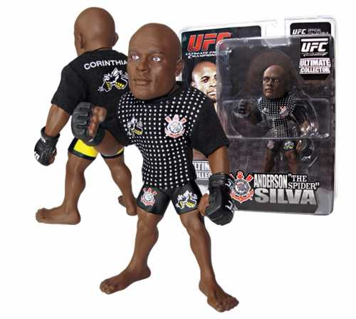 Boneco Action Figure  UFC Ultimate Fighting Championship - Anderson Silva The Spider Camiseta Corinthians