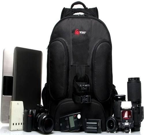 Mochila West Para Câmera E Acessórios Fotograficos - New Car