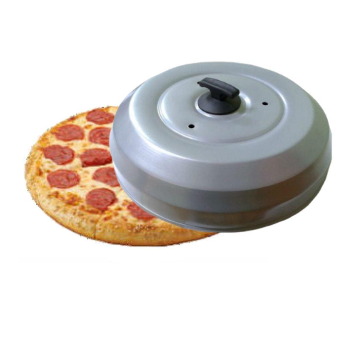 Abafador De Pizza Cinza Em Alumínio Grande 40cm - Gallizzi