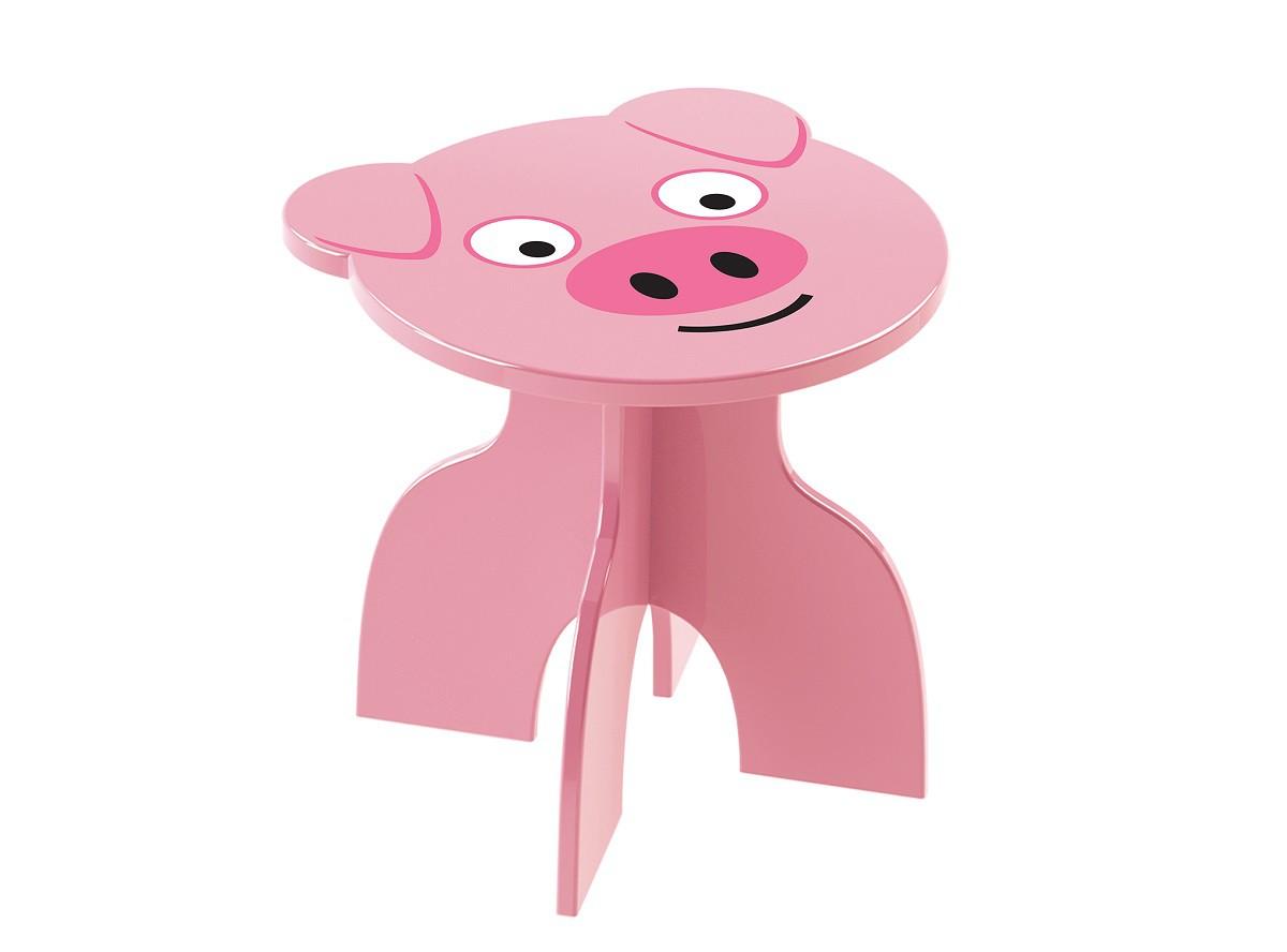 Banquinho Infantil Rosa Porquinho Junges Animal Kids - 960