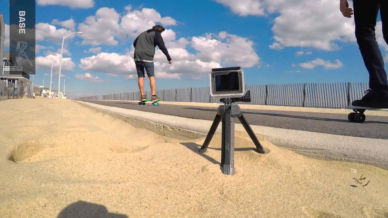 Base Tripé Compacto Dobravél Para Câmeras Gopro Hero - Gpbas-15