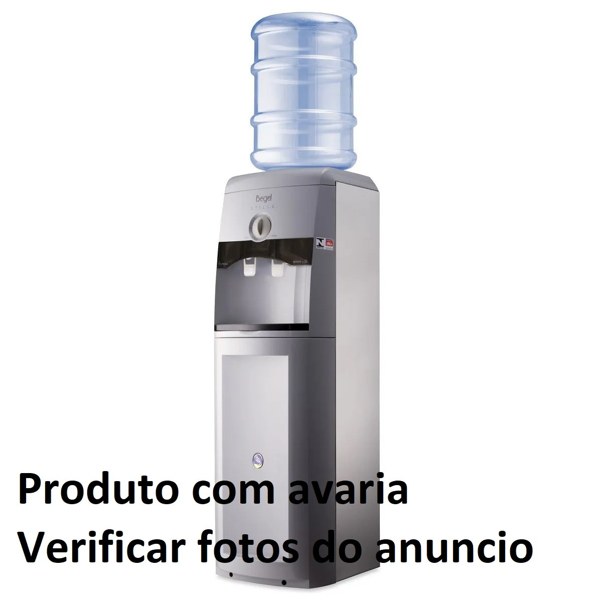Bebedouro de Coluna Begel - STILLE MASTER INOX - AVARIADO