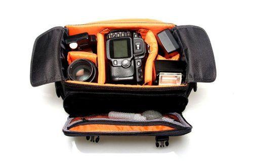 Kit Bolsa Para Câmera E Equipamentos Fotográficos Olimpic 3 + Tripe Gorila Flexível Para Camerâs