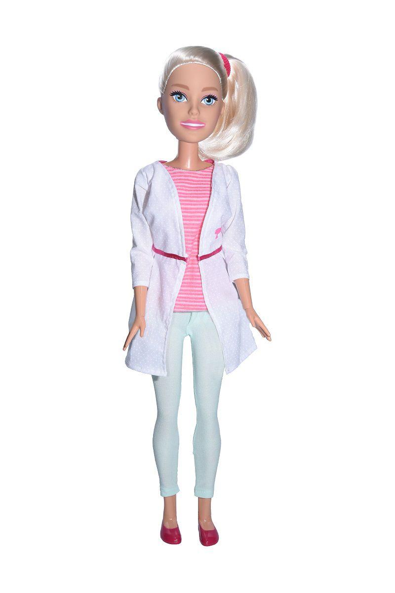 Boneca Barbie 70cm Profissões Veterinária - 1262