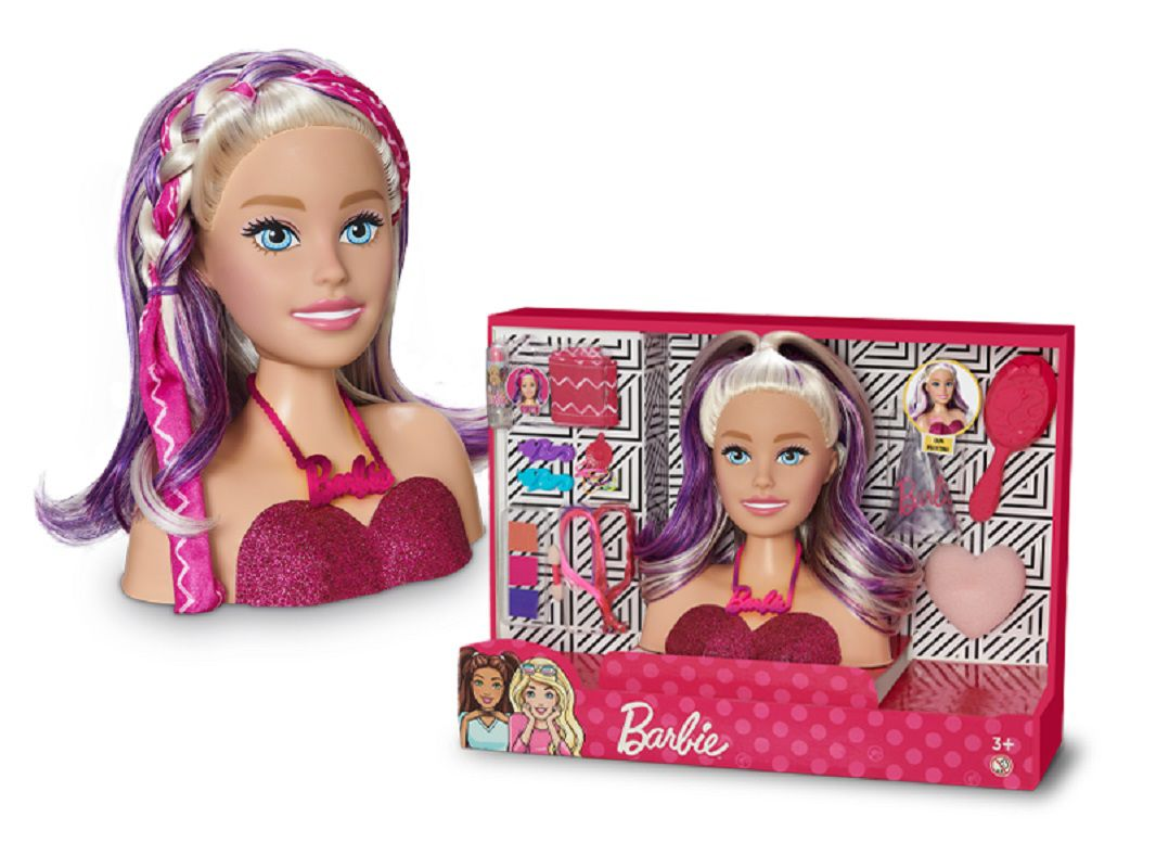 Boneca Busto Barbie Styling Head Faces Para Maquiar Com Acessórios - 1265