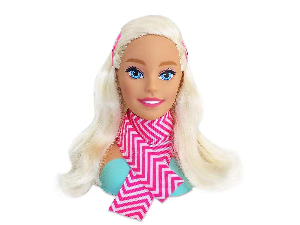 Boneca Busto Barbie Styling Head Faces Para Pentear Com Acessórios - 1255