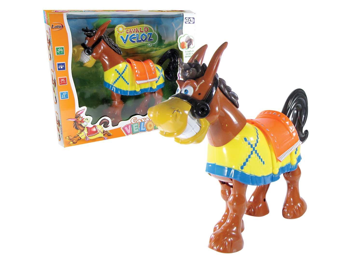 Cavalinho Veloz Brinquedo Infantil Com Som e Movimento a Pilha Amarelo - 2047