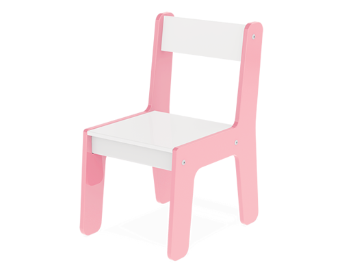 Cadeira Em Madeira Mdf Para Bebês E Crianças Infantil Rosa - Junges