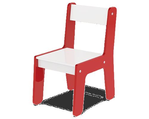 Cadeira Em Madeira Mdf Para Bebês E Crianças Infantil Vermelha - Junges