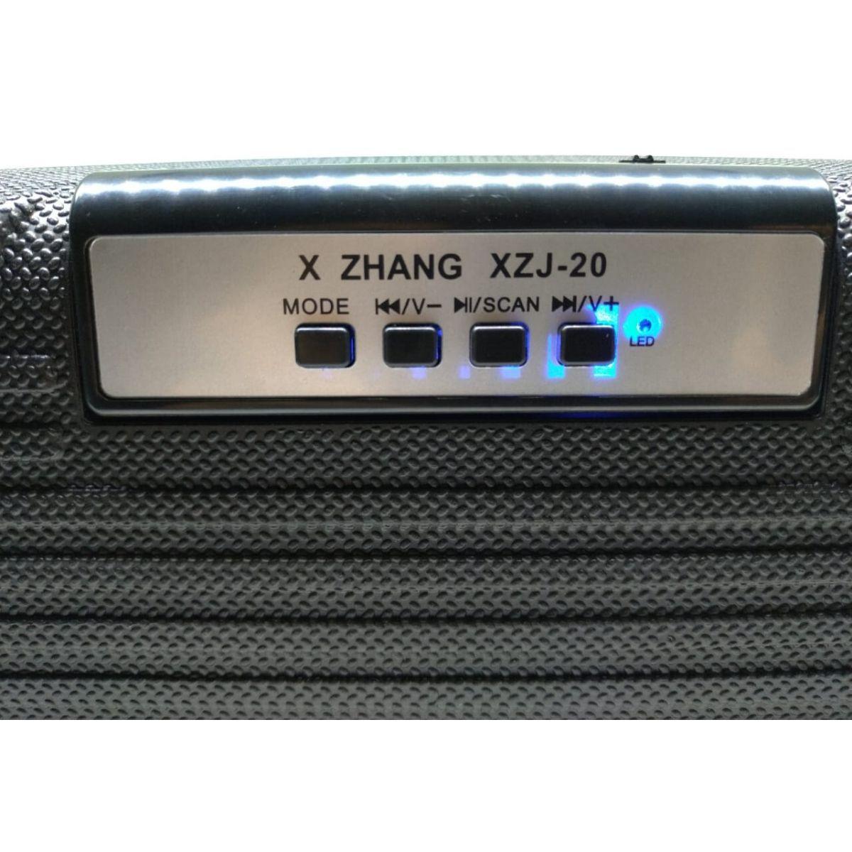 Caixa De Som Bluetooth FM Auxiliar USB SD - XZJ-20