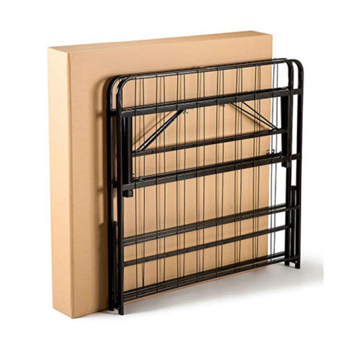 Cama Base Easyboxx Casal Resistente Preto Até 450kg Hashigo - EASYBOXX CASAL