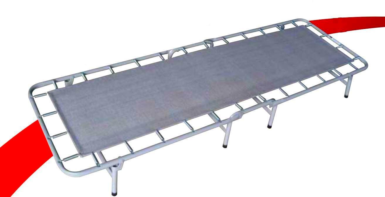 Cama Dobrável De Campanha Em Aço Com Molas COM Colchonete 90kg Hashigo - CP H-138