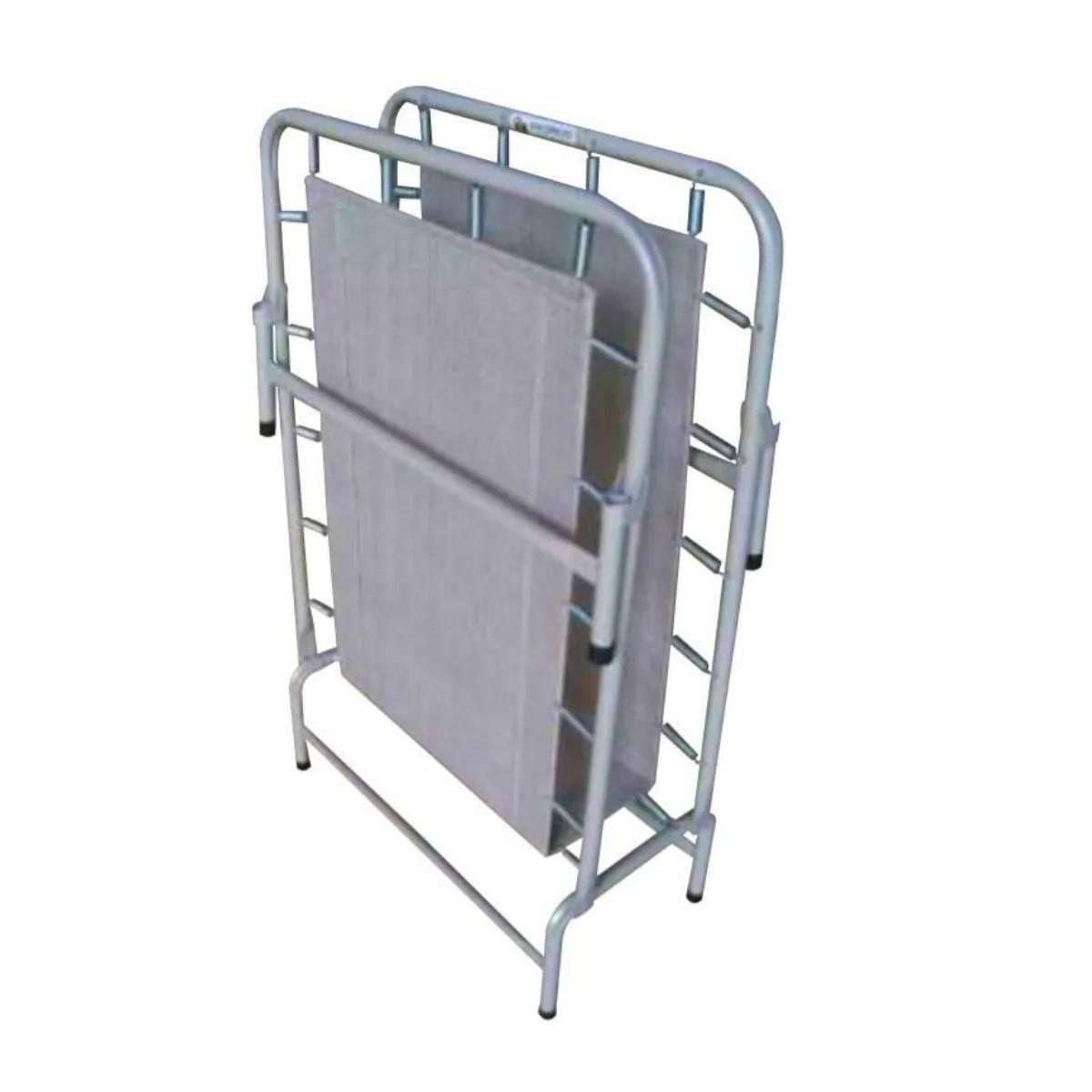 Cama Dobrável Em Aço CP SEM COLCHONETE 90kg Hashigo - CP H-155