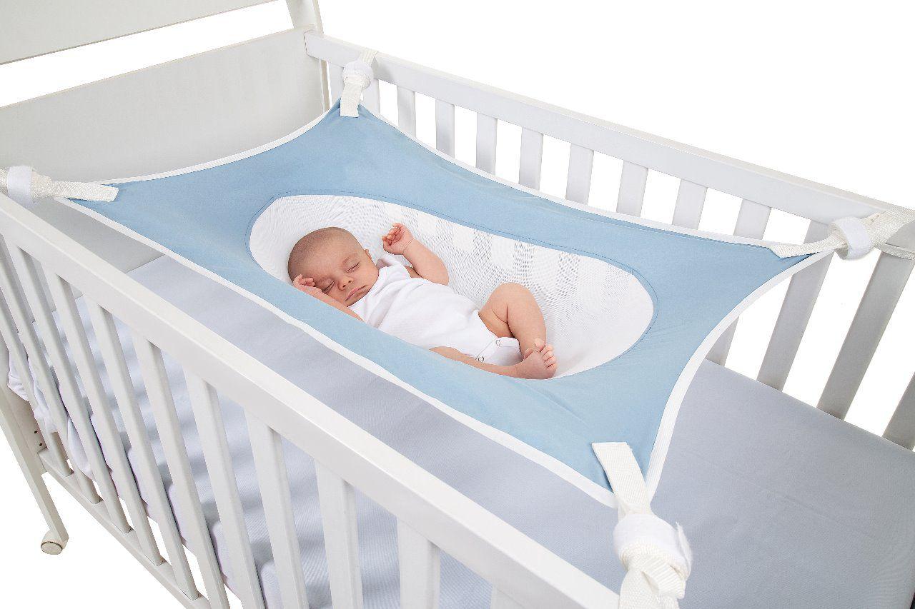 Cama Segura Primeiro Sono Redinha para Berço de Bebê  Azul Claro - 99031A
