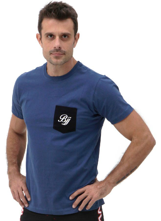 Camiseta Azul Vulkan Jiu Jitsu Masculina -BJJ LINE AZUL