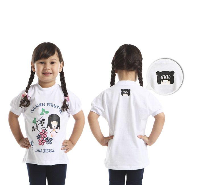 Camiseta Infatil Feminina Jiu Jitsu Branca Girl - NIÑA BRANCA