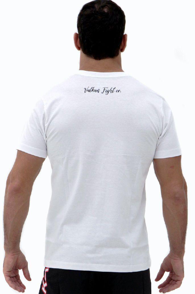 Camiseta BRANCA Vulkan Jiu Jitsu Masculina - LETSROLL 01 BRANCA