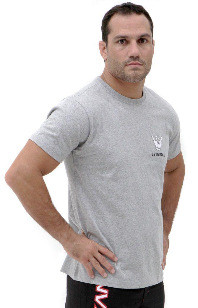 Camiseta Cinza Vulkan Jiu Jitsu Masculina - LETSROLL 01 CINZA