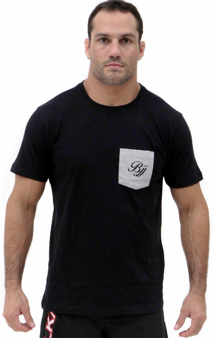 Camiseta Preta Vulkan Jiu Jitsu Masculina -BJJ LINE PRETA