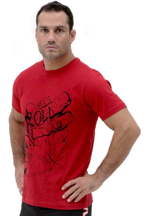Camiseta Vermelha Vulkan Jiu Jitsu Masculina - LETSROLL 02