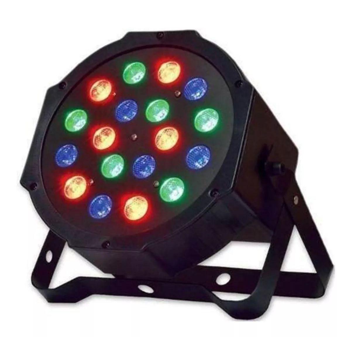 Canhão de Luz PAR 18 LEDs 1W RGB DMX Strobo Painel Digital - 789-9 - KIT FULLFILMENT