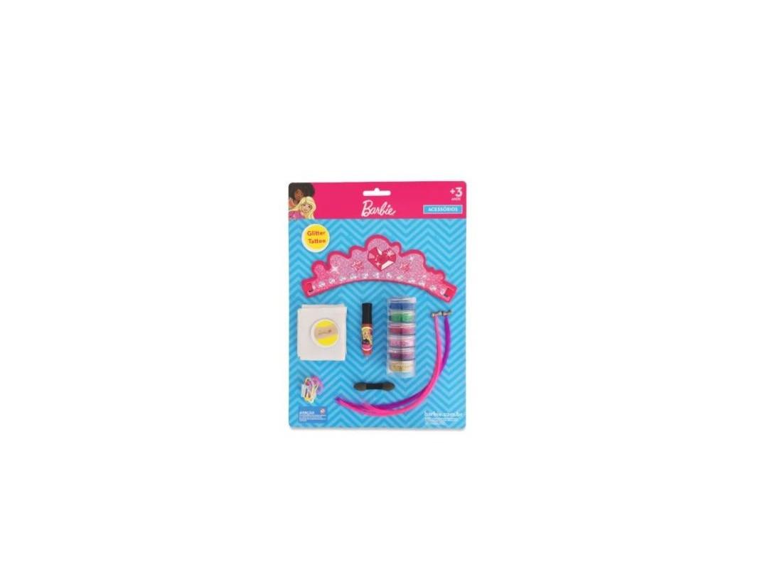 Cartela Glittler Tatto Barbie Para Meninas Brincarem - 6011