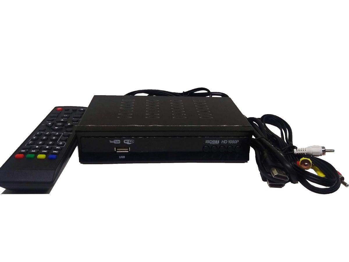 Conversor TV Digital E Smartv Gravador Full Hd HDMI USB RCA - FI0013