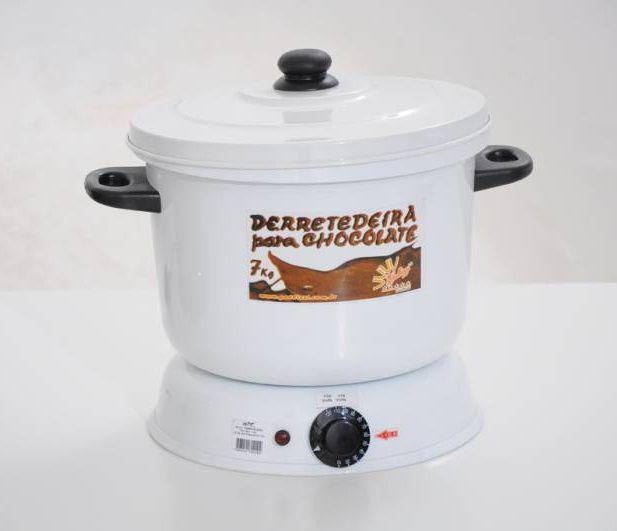 Panela Derretedeira De Chocolate Elétrica Para Até 7kg Galizzi - Branca 110v