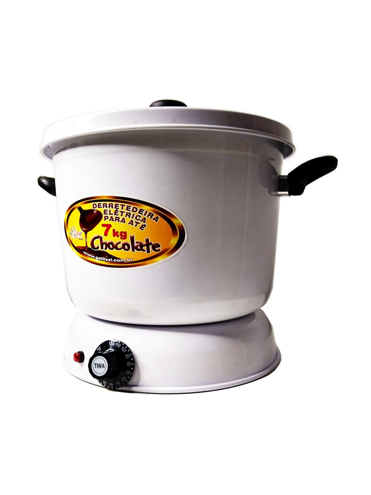 Derretedeira De Chocolate Elétrica Para Até 7kg Galizzi - Branca 110v