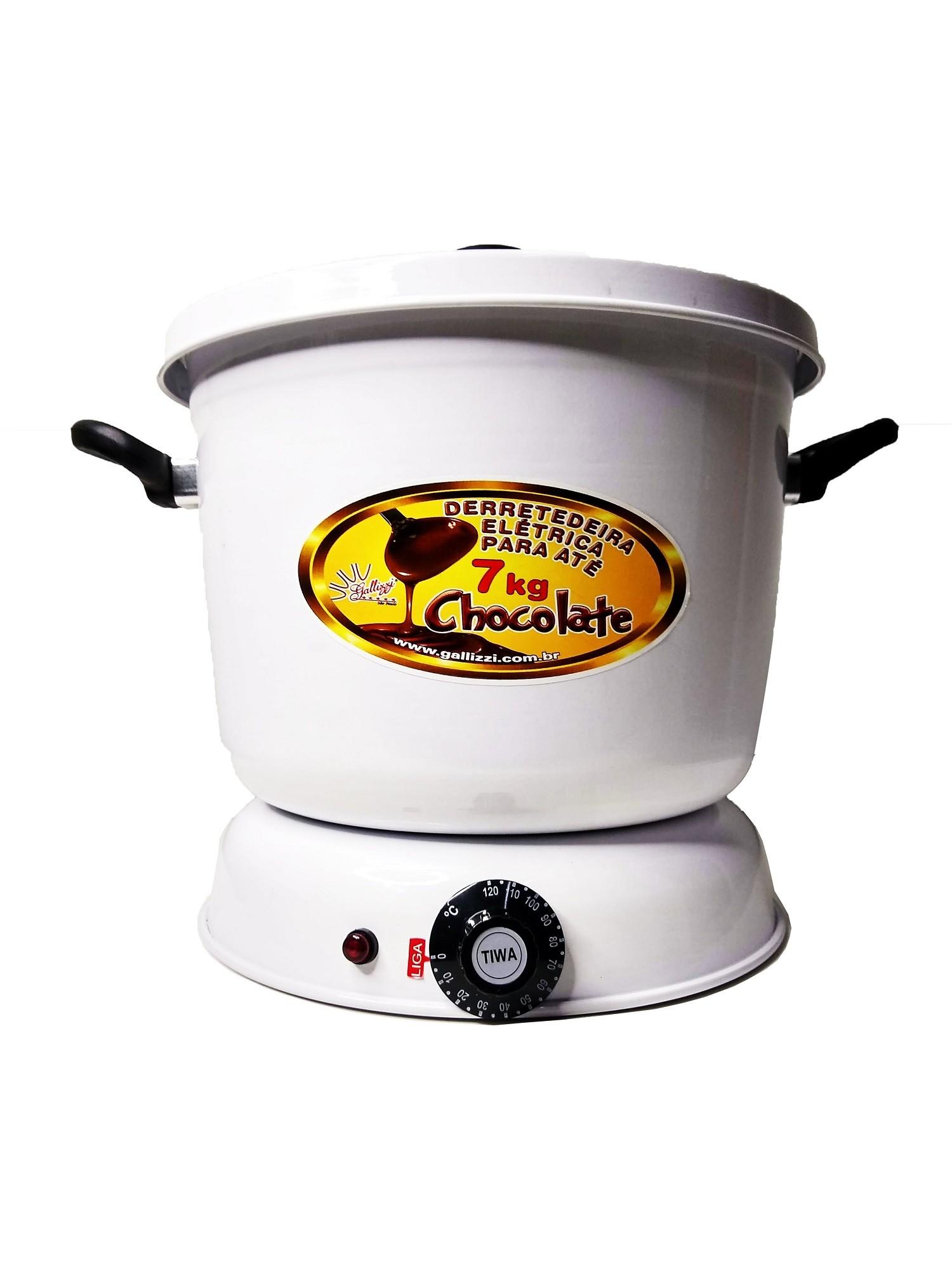 Derretedeira De Chocolate Elétrica Para Até 7kg Galizzi - Branca 220V
