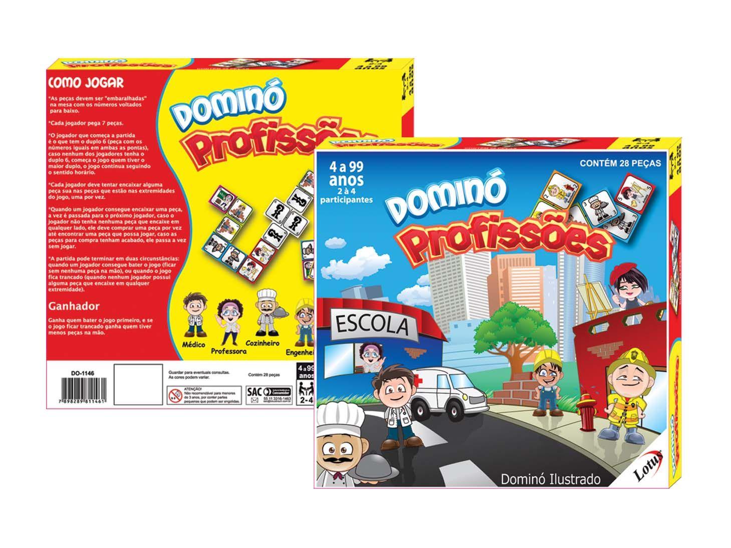 Domino Ilustrado Profissões - DO-1146