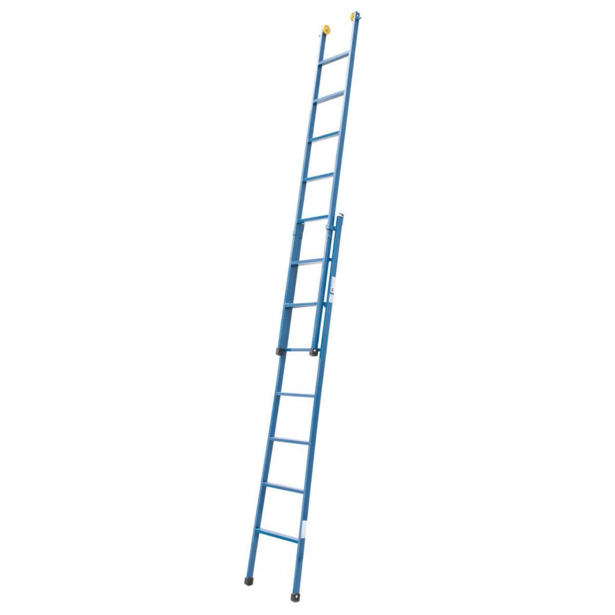 Escada Extensiva 8 Degraus De Aço Com Rodas De Deslizamento 4,3M Hashigo - 8D - H-065