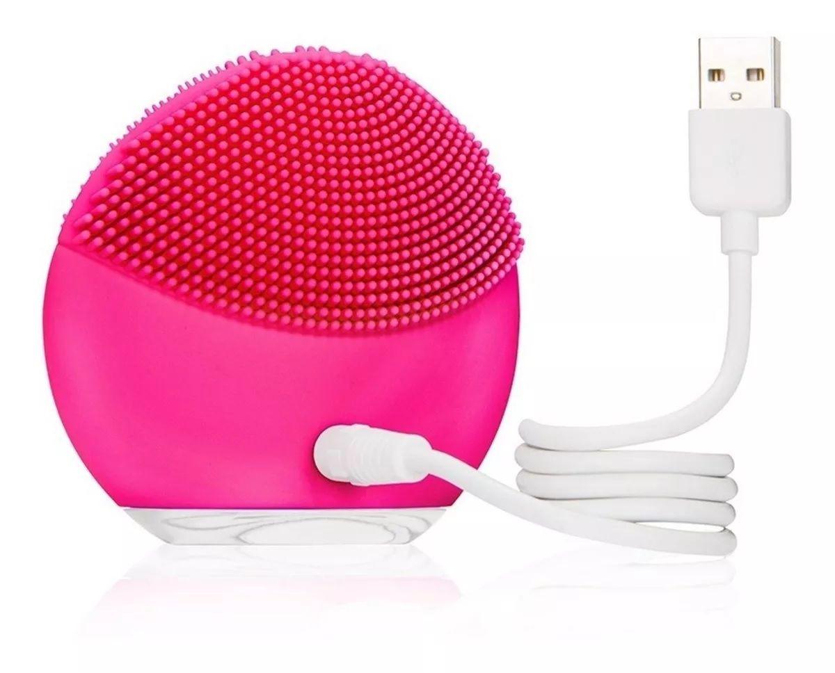 Escova Facial Massageadora De Silicone Com 938 Cerdas Confortável - Forever