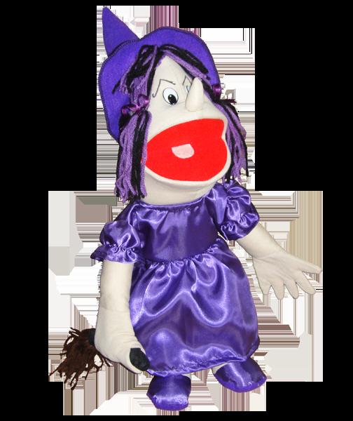 Fantoche Bruxa Tipo Boneca - 1 Peça - Jodane 7008