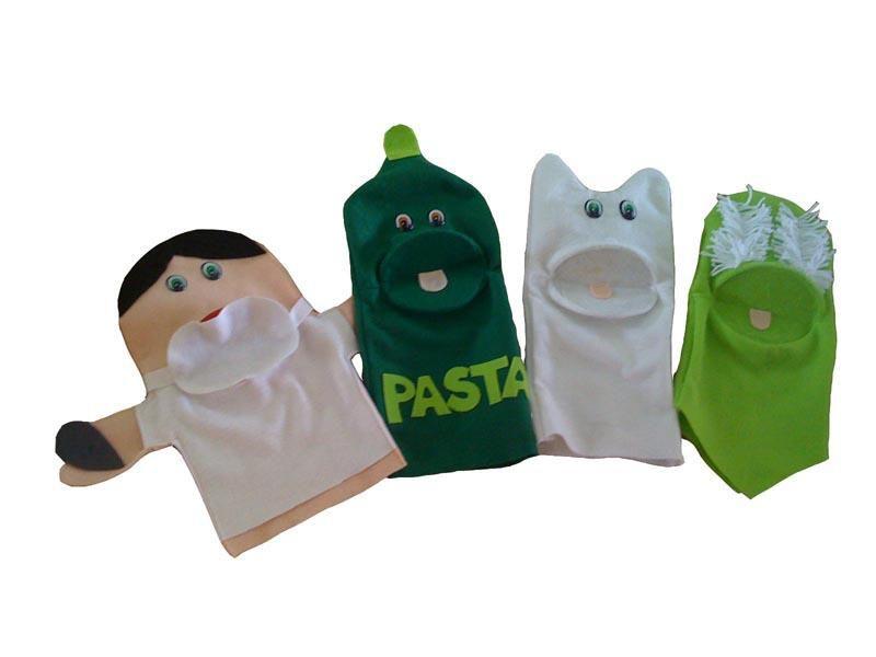 Fantoches em Feltro Higiene Bucal - 4 Peças - Jodane 1014