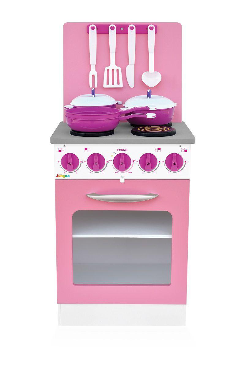 Fogão de Brinquedo Super Chef Rosa Junges - 420