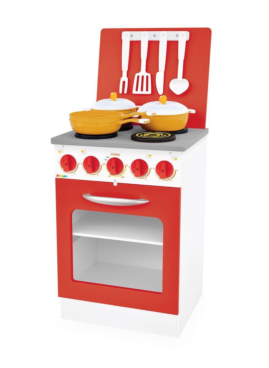 Fogão de Brinquedo Vermelho Super Chef Junges - 520