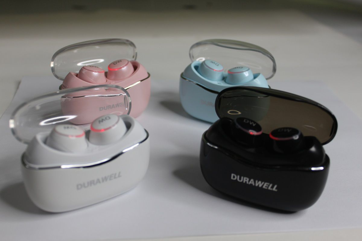 Fone De Ouvido Dual Bluetooth 5.0 TWS Par Sem Fio Impermeável Durawell - LC-T1