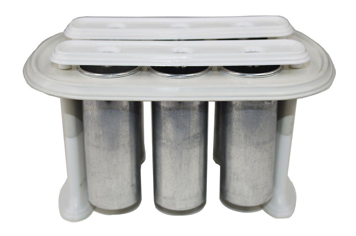 Forma de Picolé Redondo em Metal Picoleteira Profissional 6 PICOLES - 56.6
