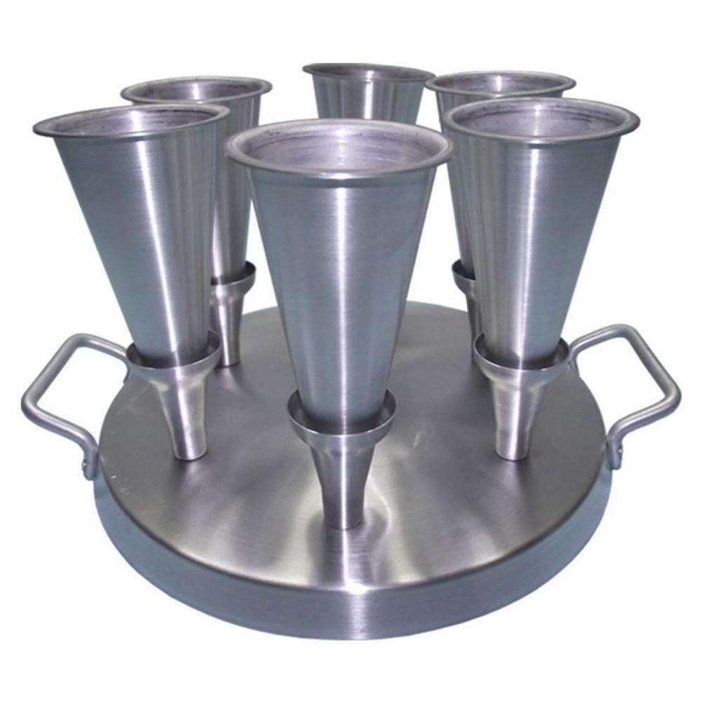 Forma Pizza Cone (06 Cones) - Alumínio - 38.C6