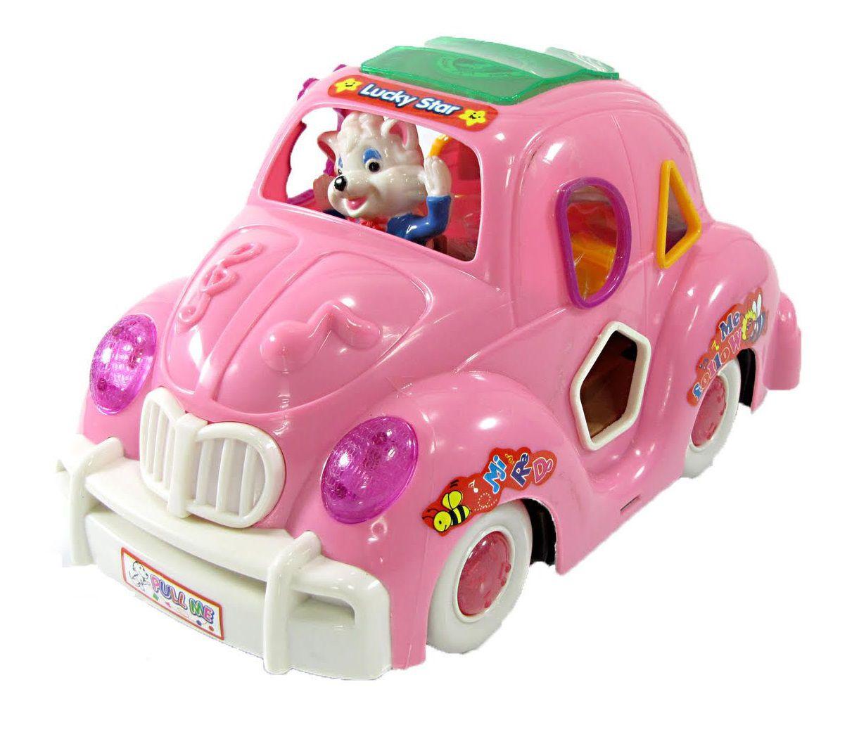Fusquinha Music Car Com Musica e Luz Fusca - MUSICCAR 813  Rosa