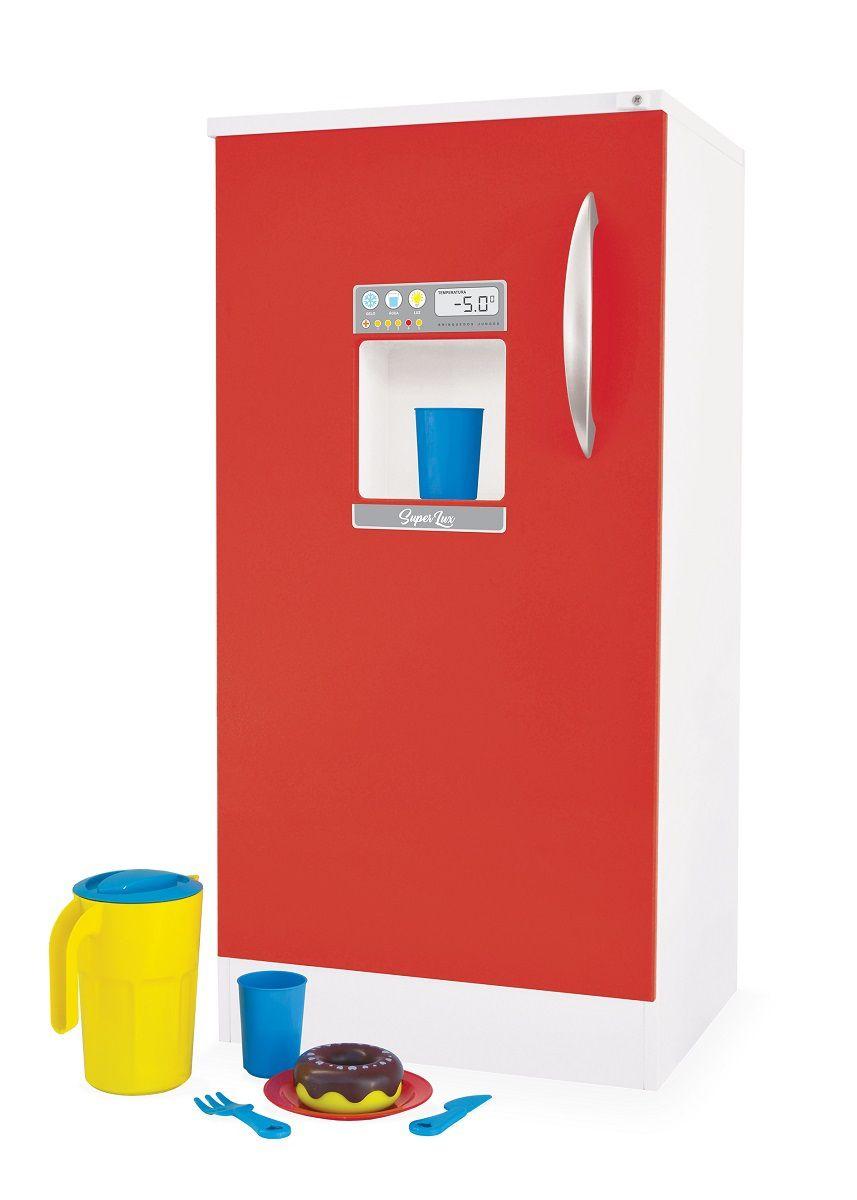 Geladeira de Brinquedo Super Lux Vermelha Junges - 422
