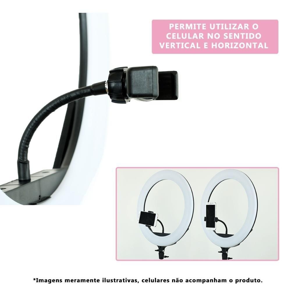 Iluminador Led Ring 18 Polegadas 46cm 416 Leds 70W 4600 Lumens - LED400