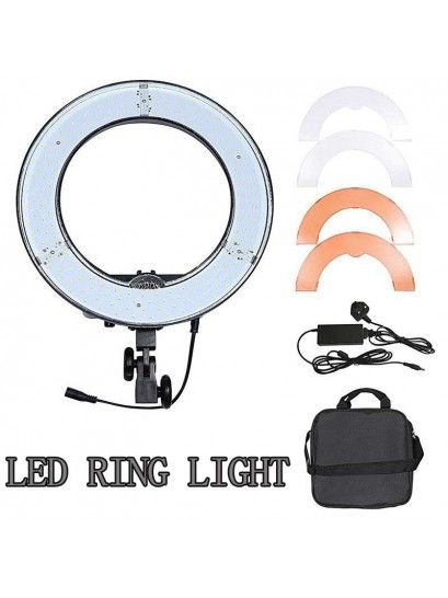 ILUMINADOR RING LED CIRCULAR REDONDO LIGHT DIAMETRO 45W GREIKA - RL-12 BIVOLT