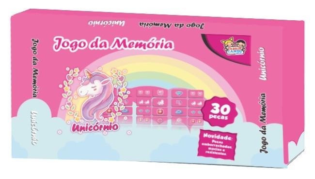 Jogo Da Memória Unicórnio 30 Peças - 6929