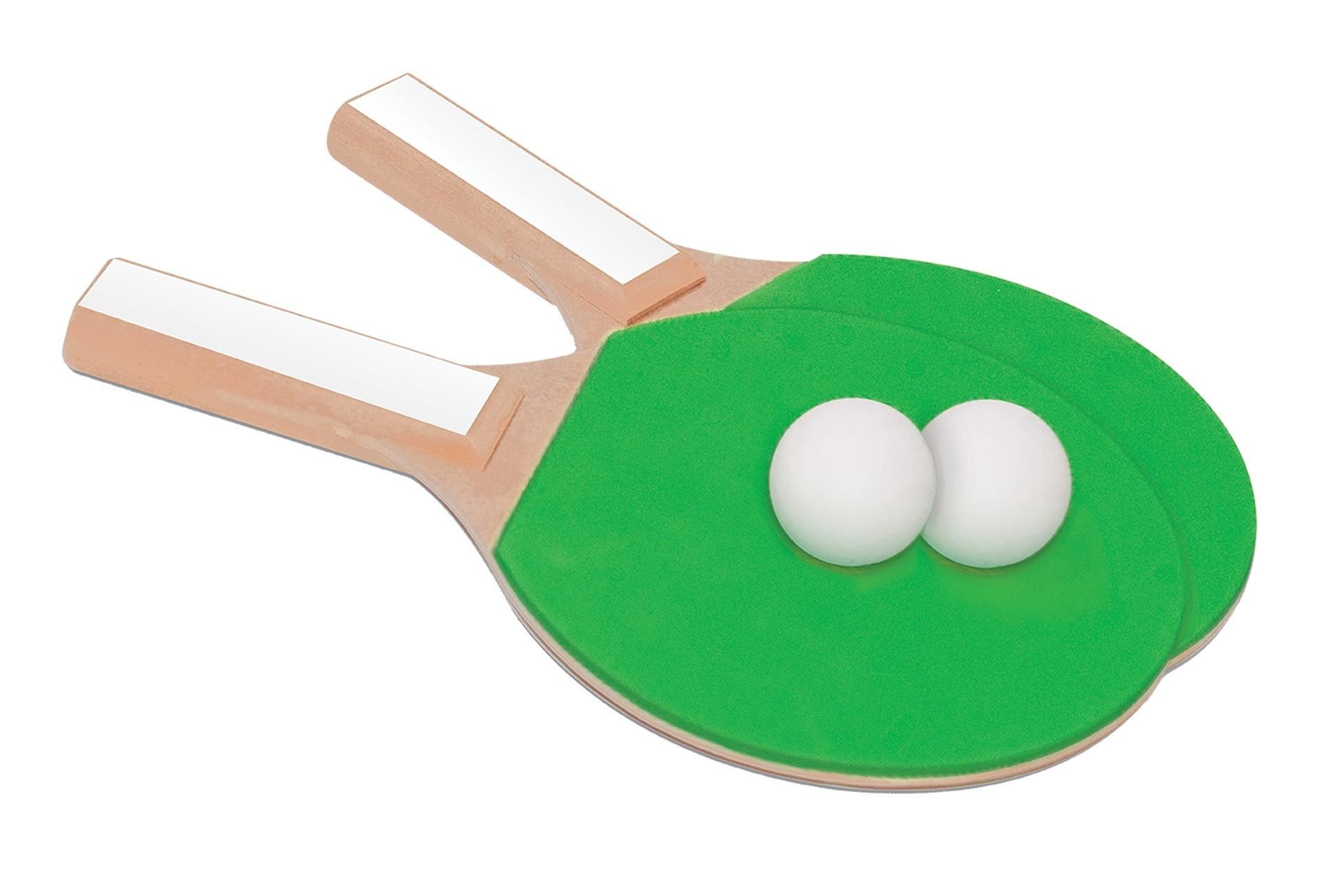 Jogo De Ping Pong Raquetes E Bolinhas Em MDF - 226