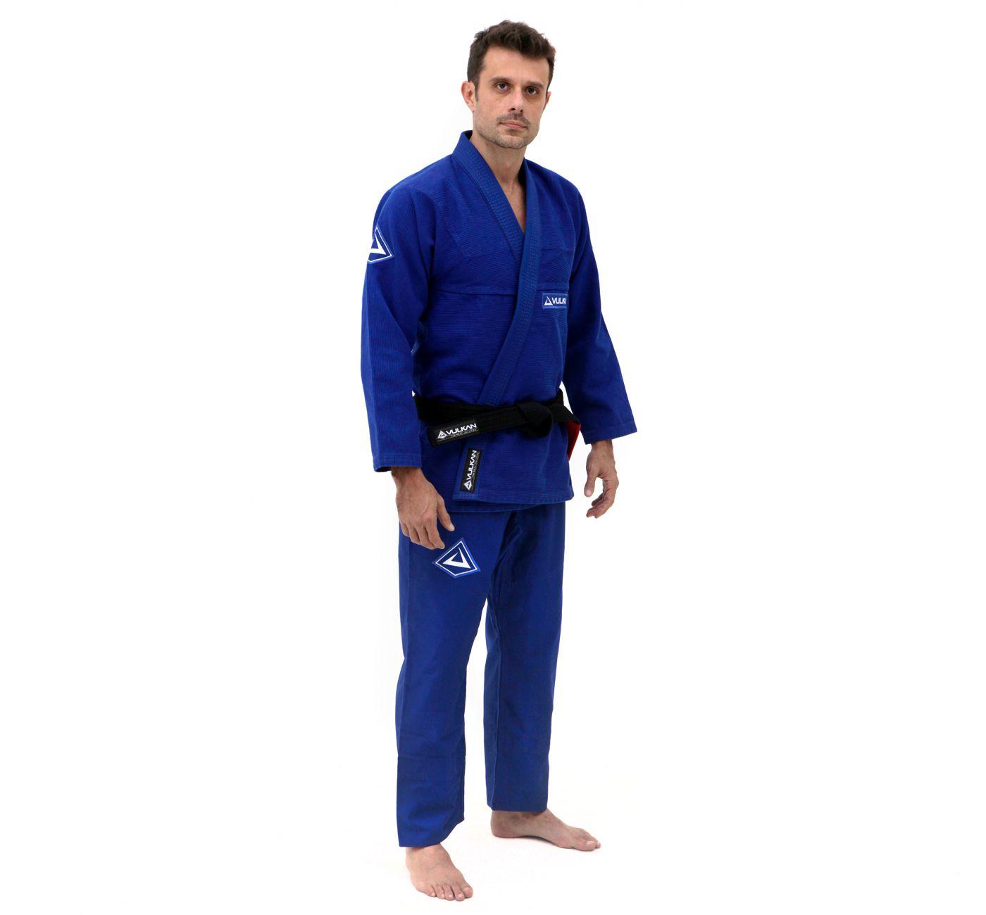 Kimono Vulkan Para Jiu-Jitsu Profissional Adulto - Pro Evolution Azul Royal Masculino