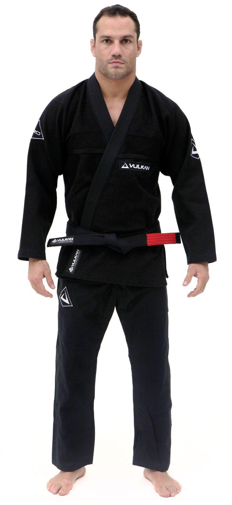 Kimono Vulkan Para Jiu-jitsu Profissional Adulto - Pro Evolution Preto Masculino