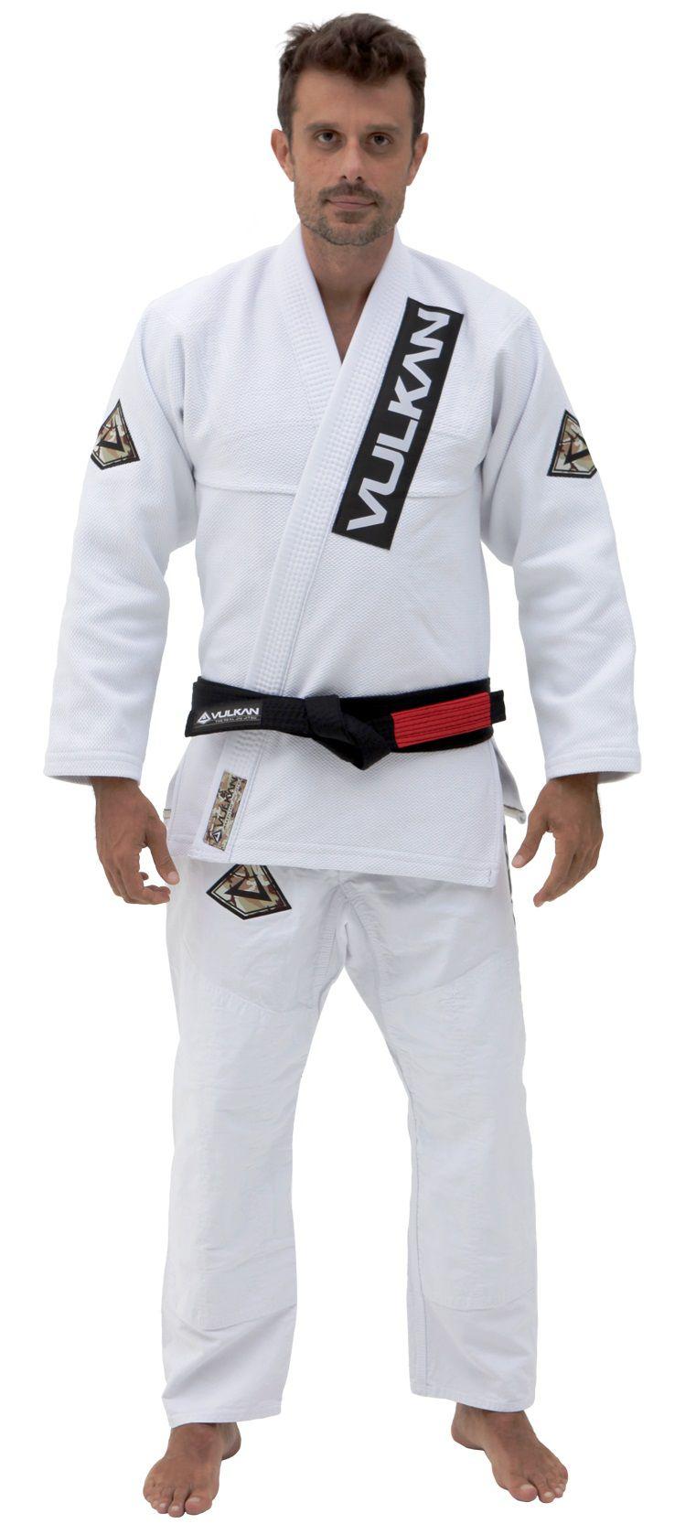 Kimono Vulkan Para Jiu-jitsu Profissional Adulto - SUPREME #01Branco Masculino